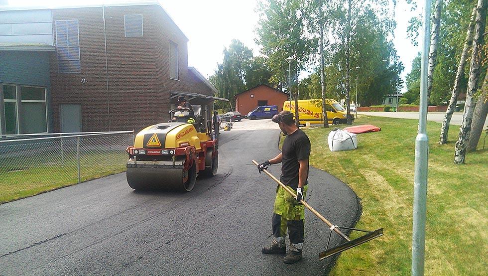 asfaltering ångvält