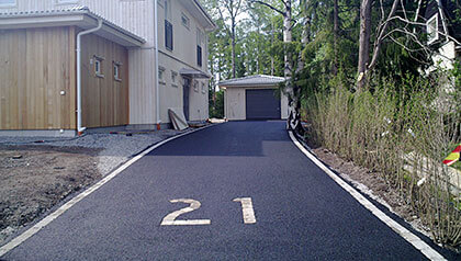 asfaltering uppfart
