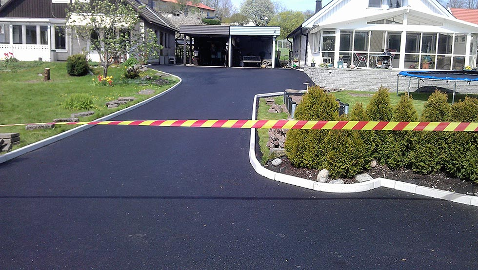 asfalterad uppfart stockholm