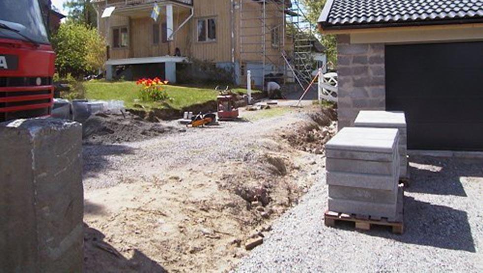 uppfart asfaltering