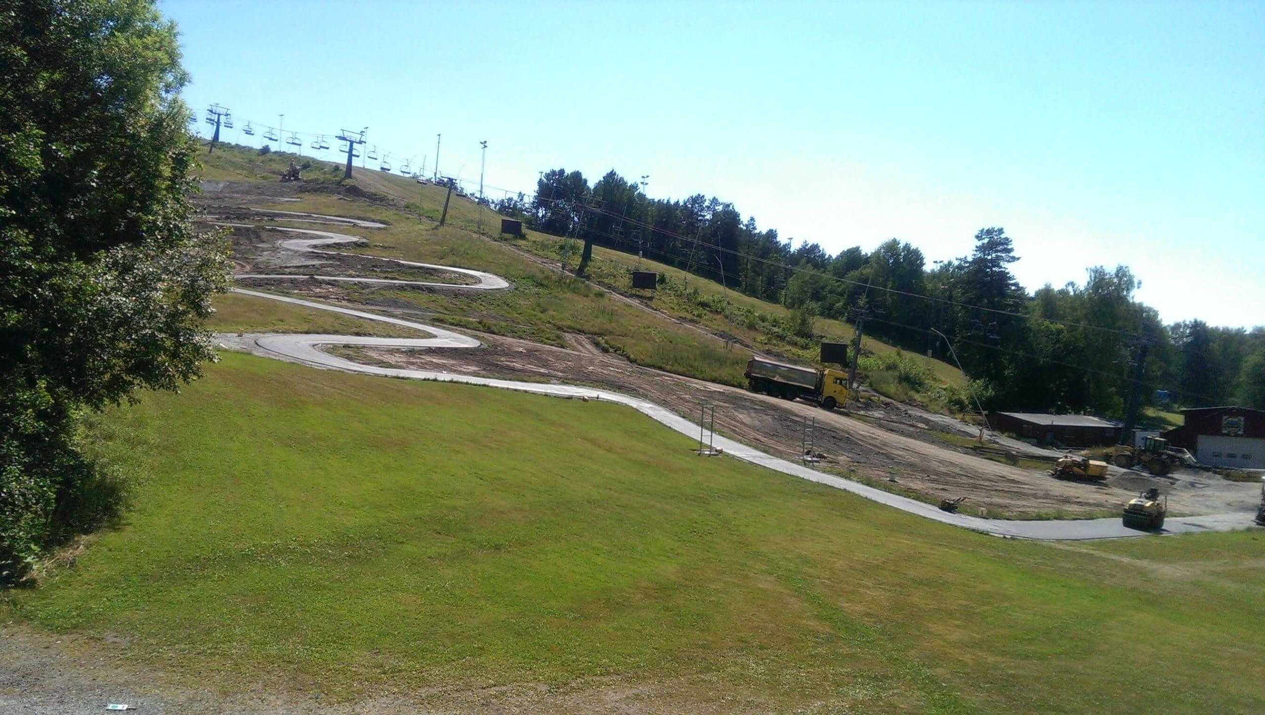 asfaltering av stig